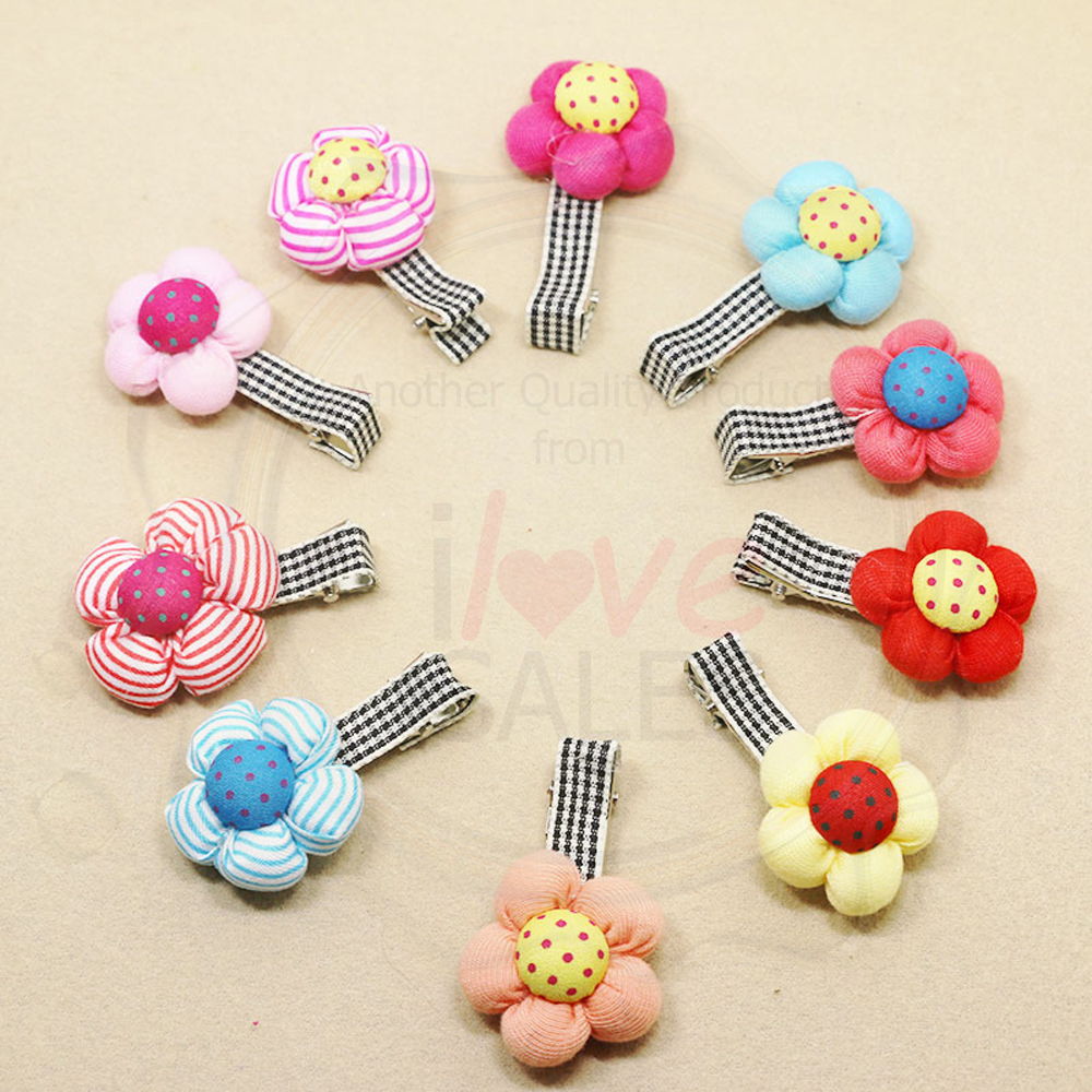 Fabric Flower Puff Children's Hair Clip/Hair Accessory