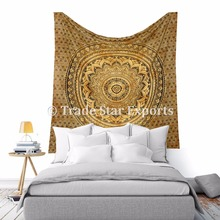 Indian Lotus Mandala Hippie Wall Art Ethnic Bohemian Home Decor Large Cotton Tapestry