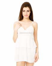 White Short Night Slip
