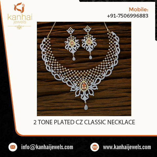 Captivating Look Creatively Designed American Diamond Necklace Sets