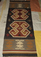 Designer Handmade Traditional Kilim Turkish Style Indian Jute Wool Carpet Supplier For Door Home /Tile carpets/Braided Rug