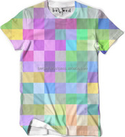 OEM produce round neck sublimation tshirt with any full color graphic designs printed