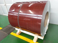 PE/PVDF Red Color Wooden Grains Aluminum Coil For Aluminum Composite Panel