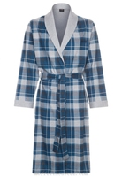 Soft Touch 100% Cotton Check Lightweight Dressing Gown for Mens