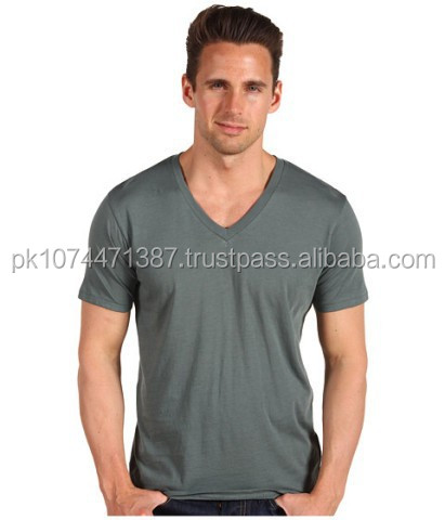 Wholesales men dry fit custom bulk 100 cotton plain t shirt / blank v neck men's Tshirt / gray men tshirt