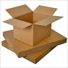 shipping brown/white corrugated box