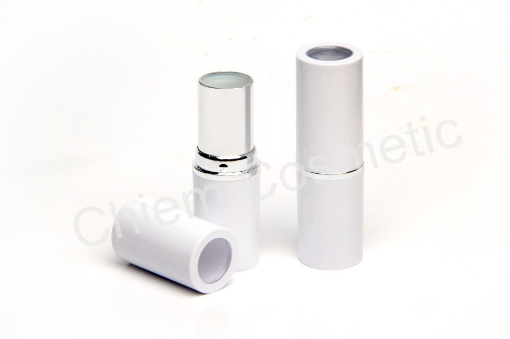 Cylinder Shape Lipstick Case with Transparent Window Top Cap #NL2