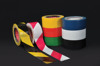 Floor Marking Tape with Bright Colour and Contrasting Stripes