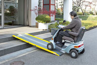 Lightweight mobility ramp scooter for wheelchair, electric wheelchair and etc made in Japan easy to carry and heavy duty