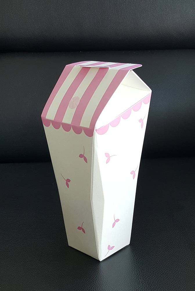 disposable paper cup.22-ounce.,No.C,480 piece per box.PE coated paper.Pink Leaves pattern
