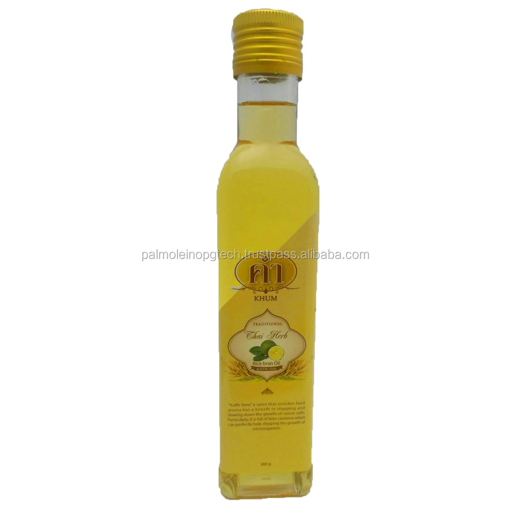 Rice Bran oil with Kaffic lime oil cooking 100% Thailand