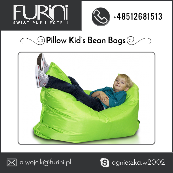 Cool Looking Pillow Kids Bean Bag for Easy Sleeping