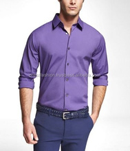 Oxford Long sleeve Shirts Made of Popline Fabrics for Men's