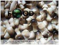 canned peeled straw mushroom in brine 425g/850g/2840g
