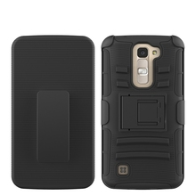 Hybrid Armor Protective Case Hard Shell Kickstand Combo Case For LG Tribute5/LG K7 LS675