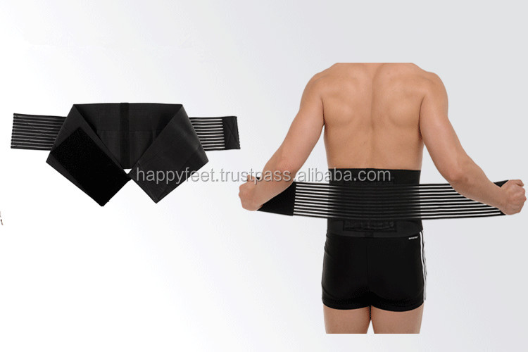Orthopedic Lumbar Lower Back Brace and Support Belt with Adjustable Straps