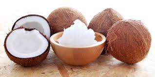 dry coconut and coconut shells