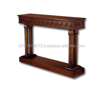 Mahogany Hall Table Carved A Indoor Furniture.