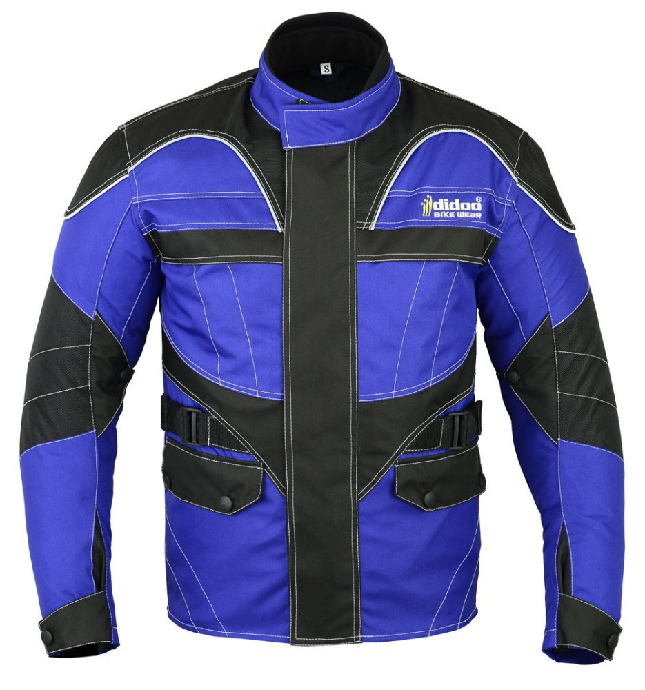 New Mens Cordura Textile Armoured Motorbike Motorcycle Wind Racing Sports Blue Jacket