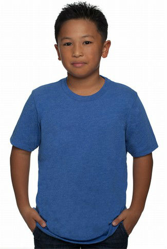 Next Level Apparel Boys' Tri-Blend T-Shirt - made from 50% polyester, 25% cotton and 25% rayon. Comes with your logo.
