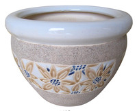 (CD06-8438/3) Ceramic flower pot with Saucer