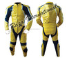Yellow Leather auto moto racing Suit, Custom Design Tailor made motorcycle suit, OEM,ODM Type Biker Leather Suit