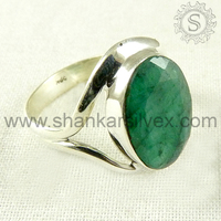 Marvelous Design !! 925 Emerald Sterling Silver Ring /Gemstone Cheap Silver Jewelry RNCT2183-6