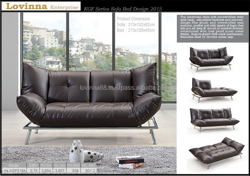 Leather Sofa Bed Model 205
