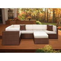 Outdoor sofa best seller 2015 PE rattan and Aluminum frame furniture/Outdoor Wicker Set with Antique Beige Cushions DMV-344