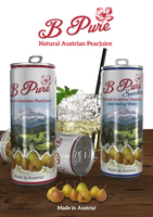 B Pure - natural energy drink - Pear Juice - of fine Austrian fruit 100 % directly pressed pear juice