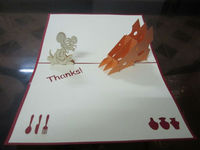 Mouse and cheese 3d pop up greeting card handmade