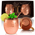 16oz Set of 2 100% pure copper mugs For wholesale