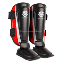 Top Quality Leather MMA Muay Thai Kick Boxing Kicking Shin Guards