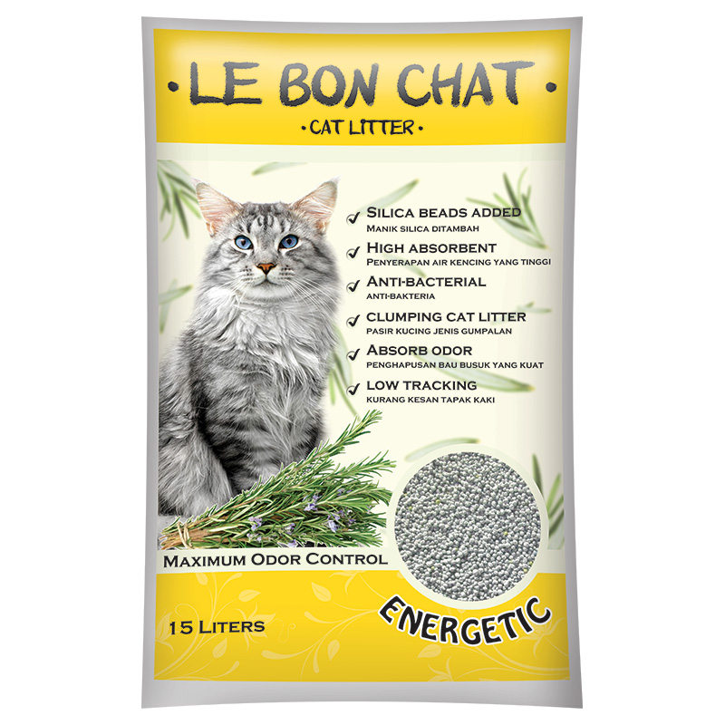 Dust-Free & Super Absorbent Clumping Silica bead + Bentonite Cat Litter