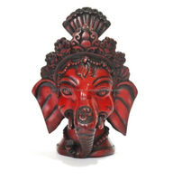 Hindu Ganesha God Resin Statue Religious Lord Ganesh Bust Elephant Face Figurine Showpiece