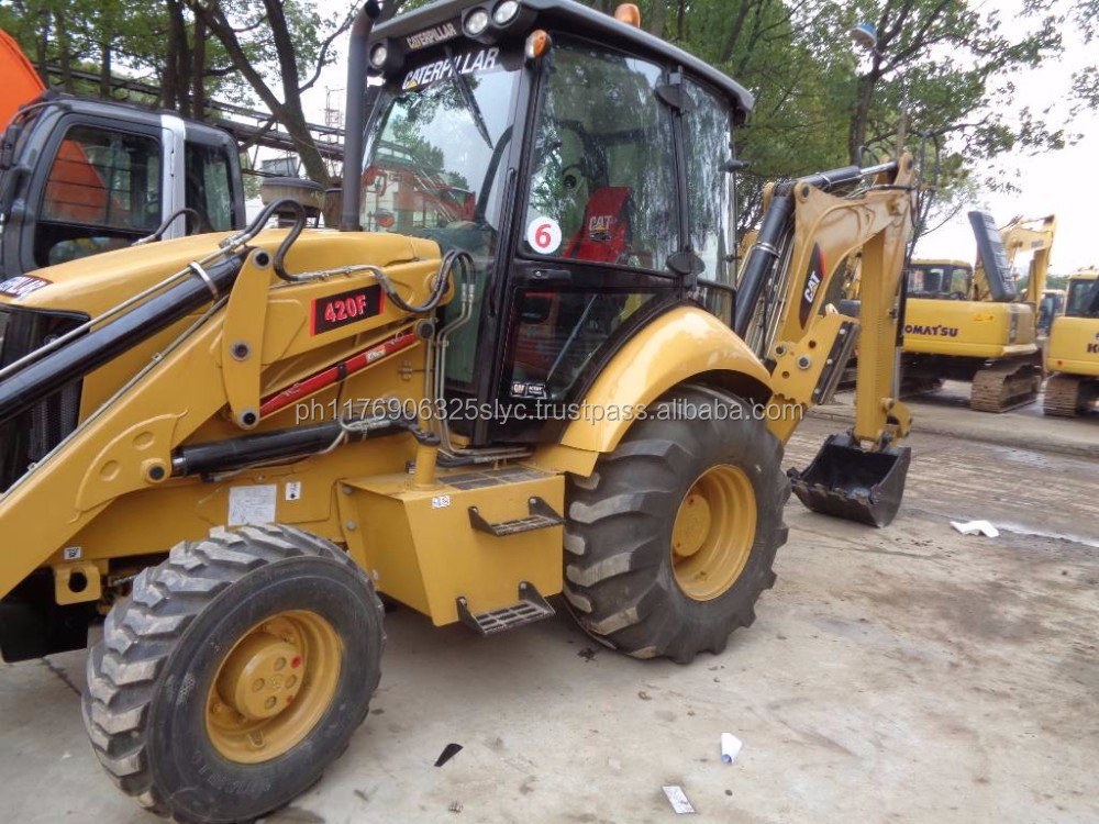 USA original Caterpillar 420E , cheap used 420E backhoe loader in Shanghai