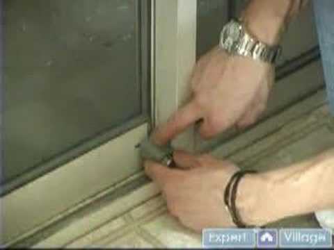 Installing a Sliding Glass Door Lock: Do It Yourself Home Security Tips : Step 2: Installing a Sliding Glass Door Lock