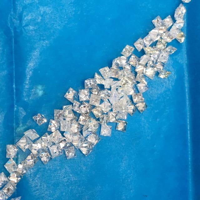 Princess cut Real Natural White Loose Diamond lot