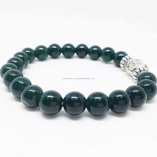 Green Jade Round Beaded Buddha Bracelet, green jade bead bracelet, wholesale lot.