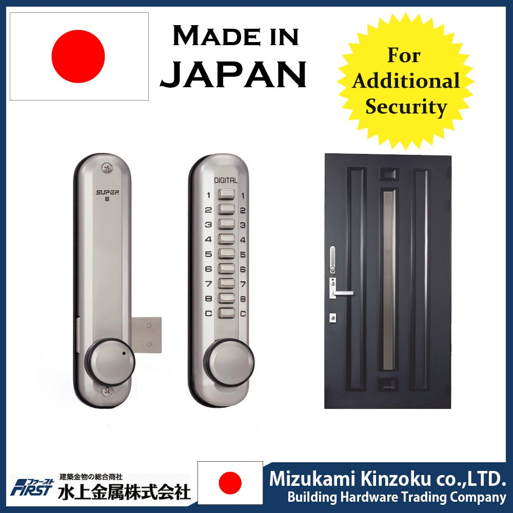 COMPANIES LOOKING FOR AGENT IN INDIA DIGITAL DOOR LOCK MADE IN JAPAN WITH RESETABLE PASS WORD AND EASY TO INSTALL .