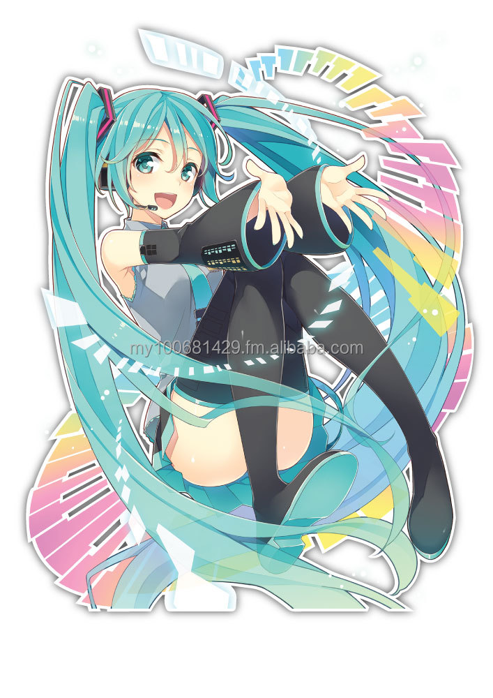 Hatsune Miku Racing Anime JDM Anime Car Window Decal Sticker 103