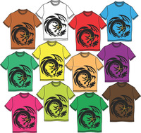 custom design different colors tee shirt