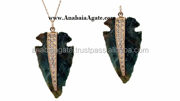 2 Inch Agate Arrowhead For Sell From India : Gemstone Arrowhead