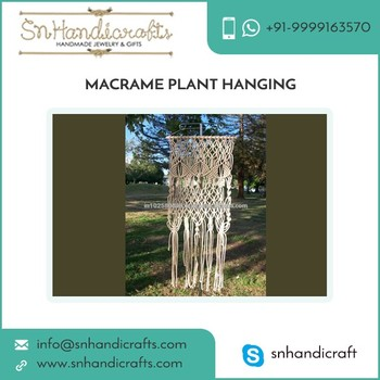 Easy to Maintain Export Quality Macrame Plant Hangers for Sale