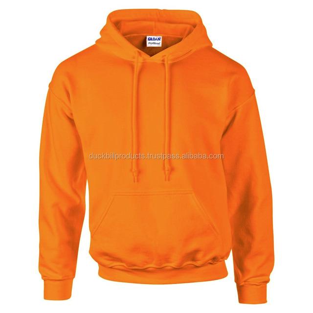 fleece hoodie with different color Orange