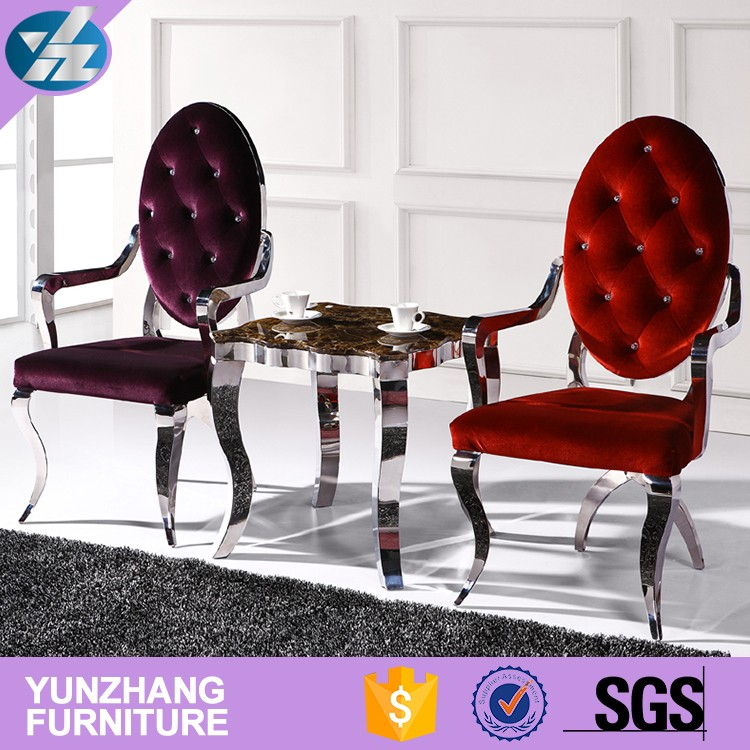 Factory direct sales and wholesale wedding banquet stainless steel gold chair