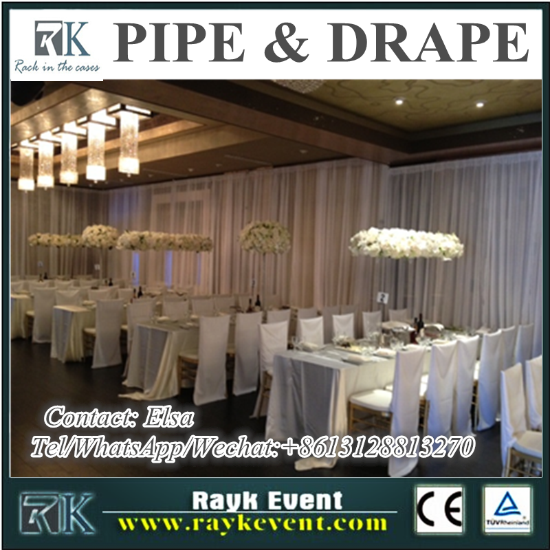 Cheap price white cheap pipe and drape alternatives portable events pipe and drape backdrop for hotel restaurant decoration