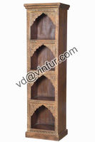 Antique Mehrab Frame Carved Bookcase