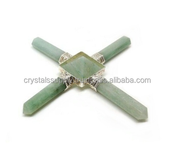 Aura Energy Generator Tool - Wholesale Green Aventurine Energy Generators : Crystal Points with Pyramid Raw Generator