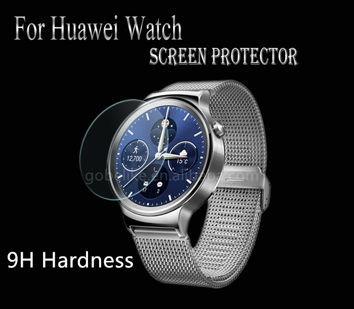 New coming!!! 0.3mm 2.5D 9H hardness smart watch tempered glass screen protector for Huawei Watch